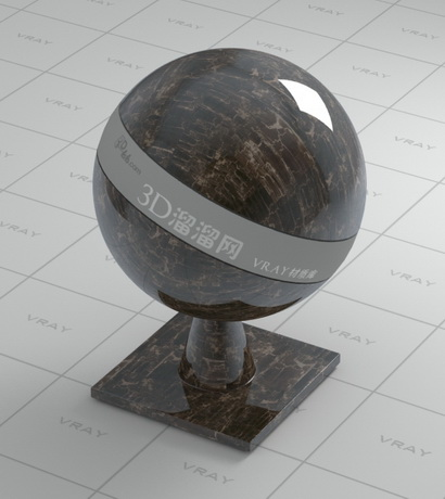 Allen gold marble material rendering