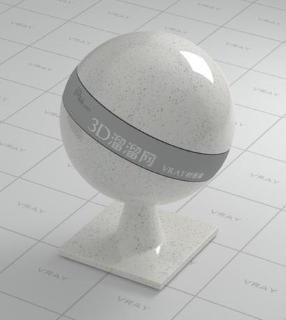 Ceara white granite material rendering