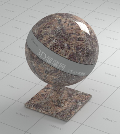 Breccia Paradiso marble material rendering