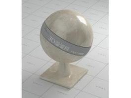 Cedar brown marble vray material