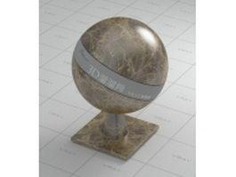 Dark emperador brown marble vray material
