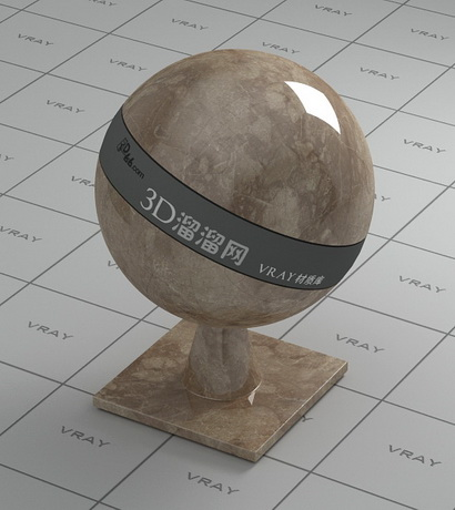 Gray brown marble material rendering