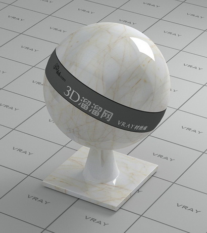 Venata white marble material rendering