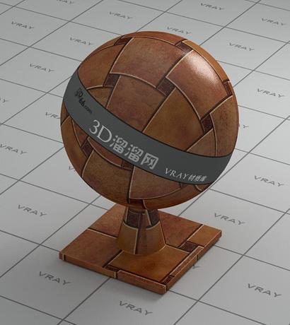 3D floor tile material rendering