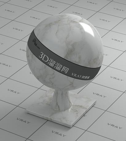 Venato white marble material rendering