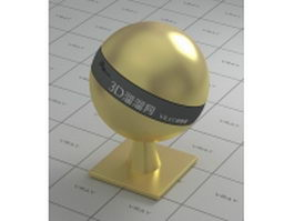 Gold plating polished finish vray material