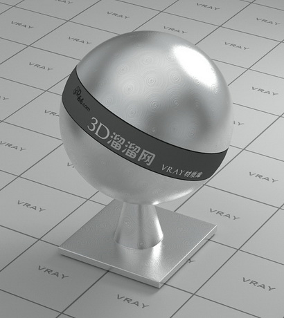 Stainless steel - circular brushed surface material rendering