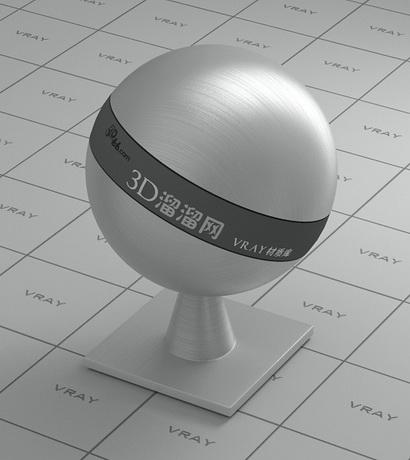 Brushed aluminum surface material rendering