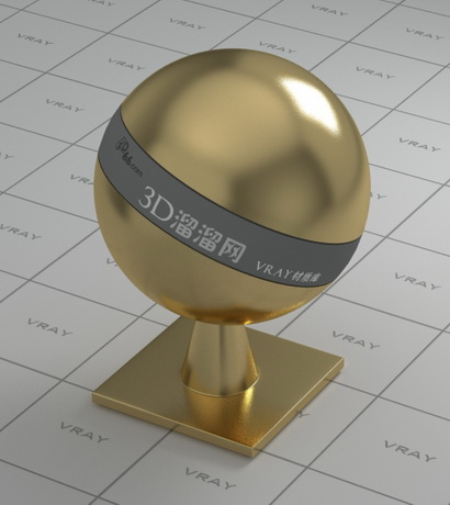 Polished brass plated material rendering