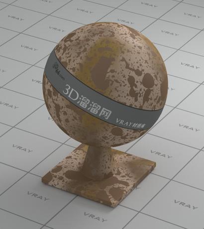 Metal-envelope rusty material rendering