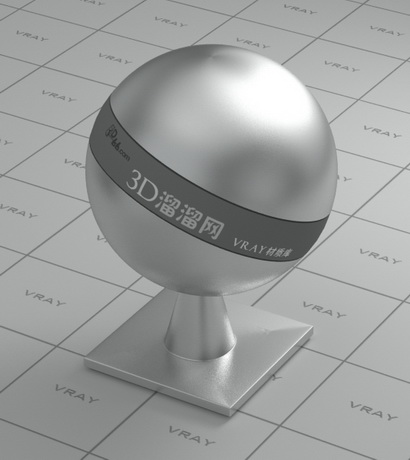 Silver rough surface material rendering