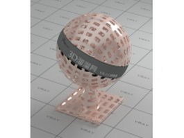 Copper mesh vray material