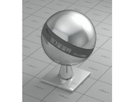 Chrome plating - glossy finish vray material