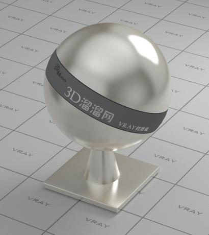 Chrome steel alloy material rendering