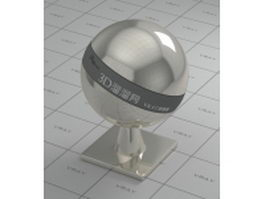 Nickel plating - mirror polished finish vray material