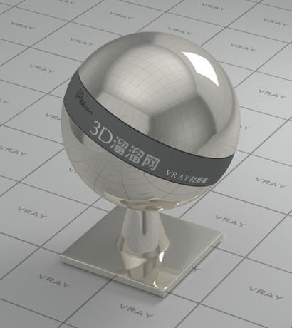 Nickel plating - mirror polished finish material rendering