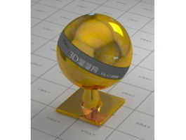 Gold plating - glossy surface vray material