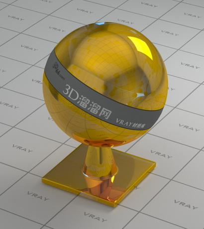 Gold plating - glossy surface material rendering