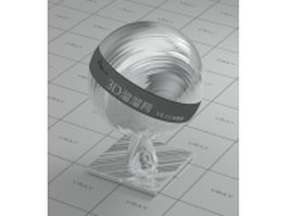 Brushed aluminum alloy vray material