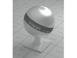 Round Brushed Stainless Steel vray material