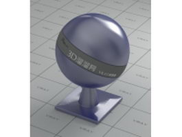 Metal blur blue vray material