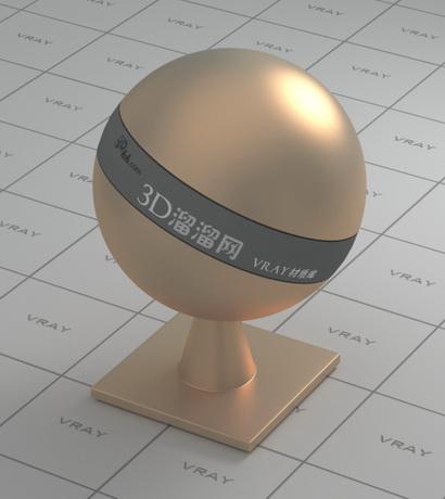 Satin finish copper material rendering