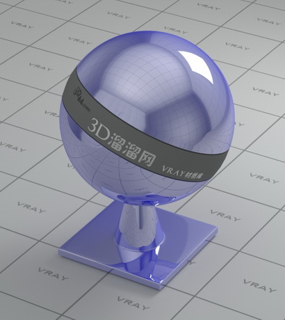 Metallic cover - mirror polished material rendering