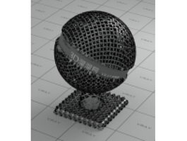 Iron Chainmail vray material