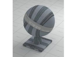 Gray striped fabric vray material