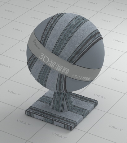 Gray striped fabric material rendering