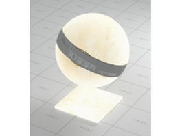 Beige lampshade vray material