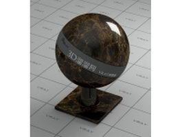 Emperador dark brown marble vray material