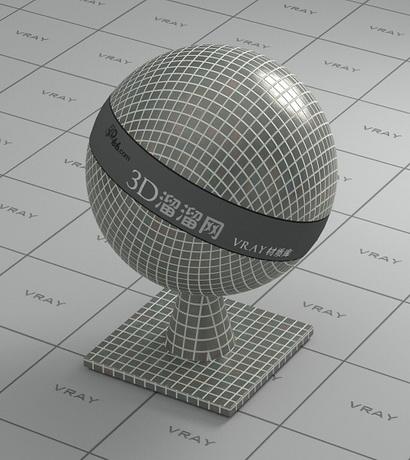 Mosaic flooring tile - grey material rendering