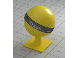 Yellow ceramic vray material