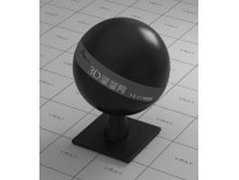 Titanium black ceramic vray material