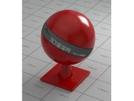 Dark red ceramic vray material