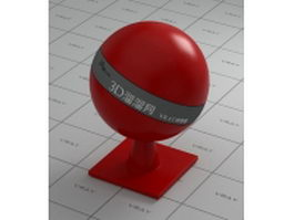 Red ceramic vray material