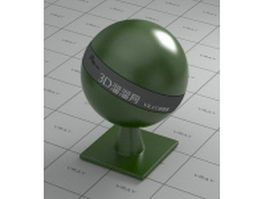 Dark olive green glazed porcelain vray material