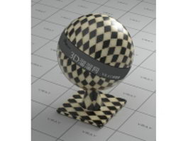 Ceramic tile - yellow and black checker vray material