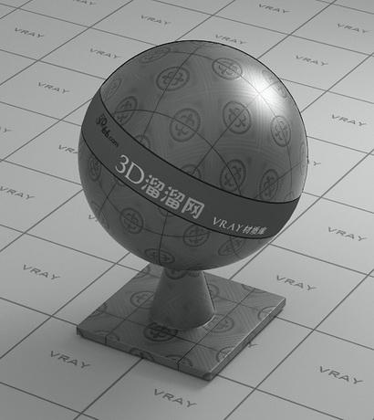Grey ceramic facing tile material rendering