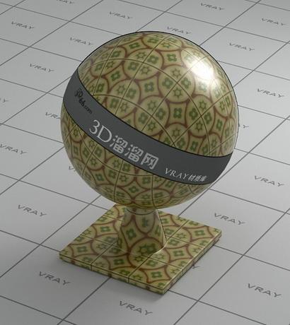 Colour ceramic glaze wall tile material rendering