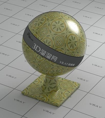 Glaze porcelain brick tile material rendering