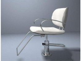 Modern stainless steel barber chair 3d preview