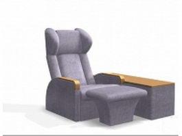 Massage chair equipment 3d preview