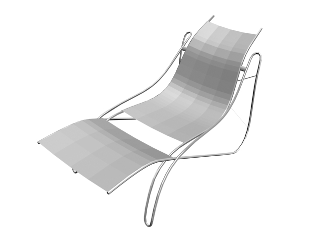 Outdoor garden deck chair 3d rendering