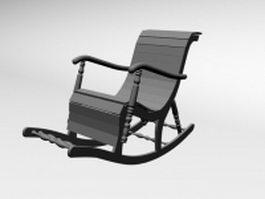 Slatback rocking chair 3d preview