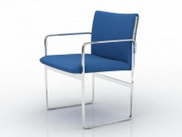 Blue conference chair 3d model preview