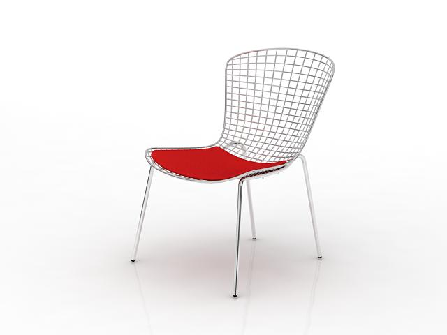 Wire side chair 3d rendering