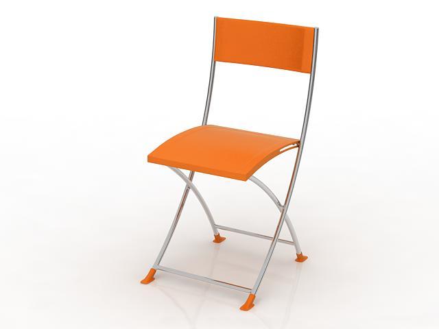 Portable outdoor chair 3d rendering