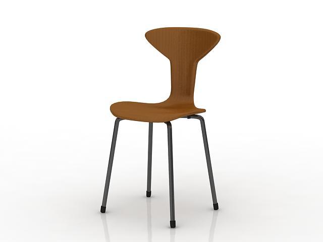 Modern coffee chair 3d rendering